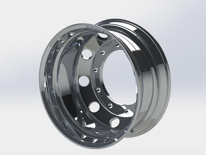 Diegowheels 22.5*9.0 Casting Flow Forming Aluminum Alloy Wheels