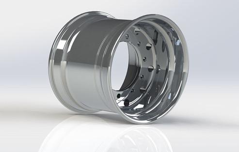 22.5*8.25 Aluminum Alloy Wheels, China OEM Machined Finish Wheels